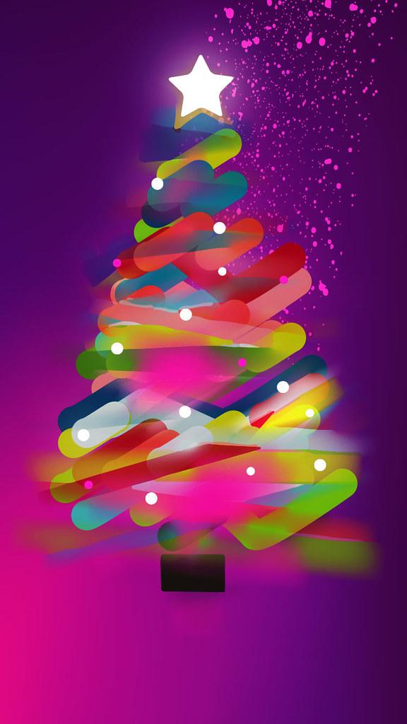 christmas tree iphone wallpaper by kathy kavan