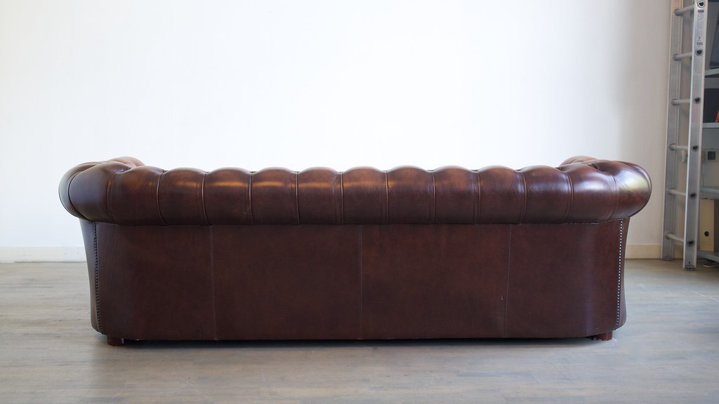 for sale chesterfield four seater sofa antique brown ches flickr