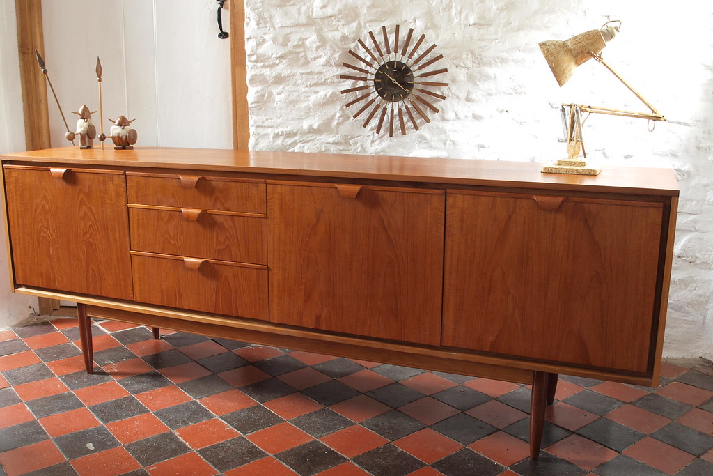 Danish Design Credenza : Huge teak s danish design sideboard credenza superb ordu flickr