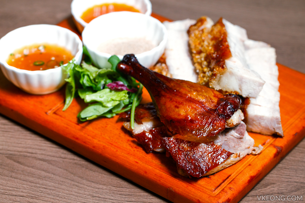 Gold Bar Roast Duck Roast Pork Platter