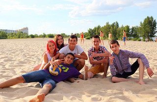 Group of teens at the beach | by be creator