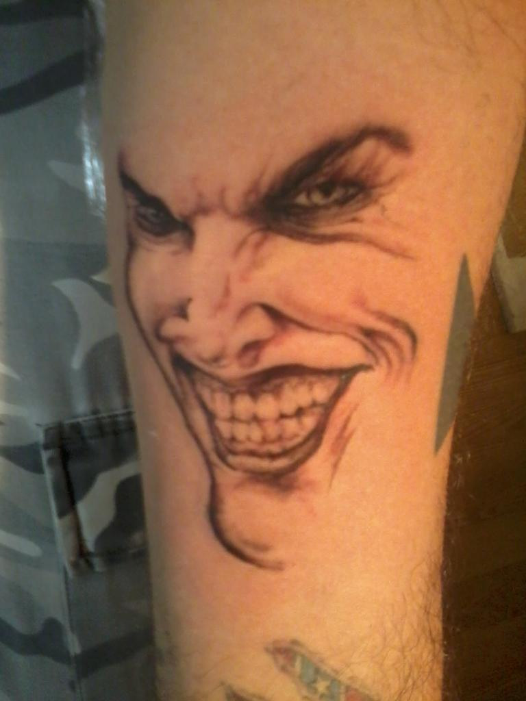Gorgeous Simple Joker Face Tattoo Design 1060 Tattoosaddi Flickr