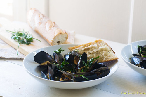 Julia Child's Mussels Mariniere via LittleFerraroKitchen.com | by FerraroKitchen1