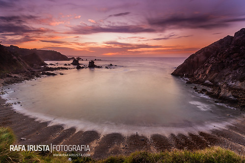 sunset at playa del silencio