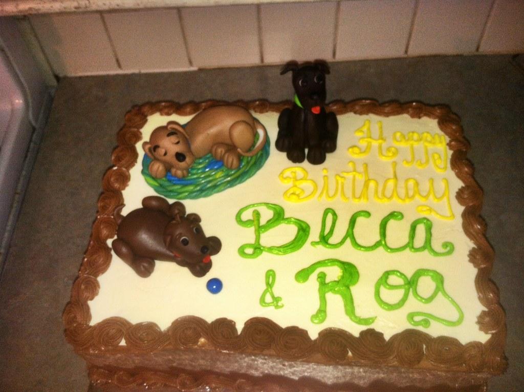 Puppy Dog Birthday Cake Birthday Cake For My Dad And Littl Flickr