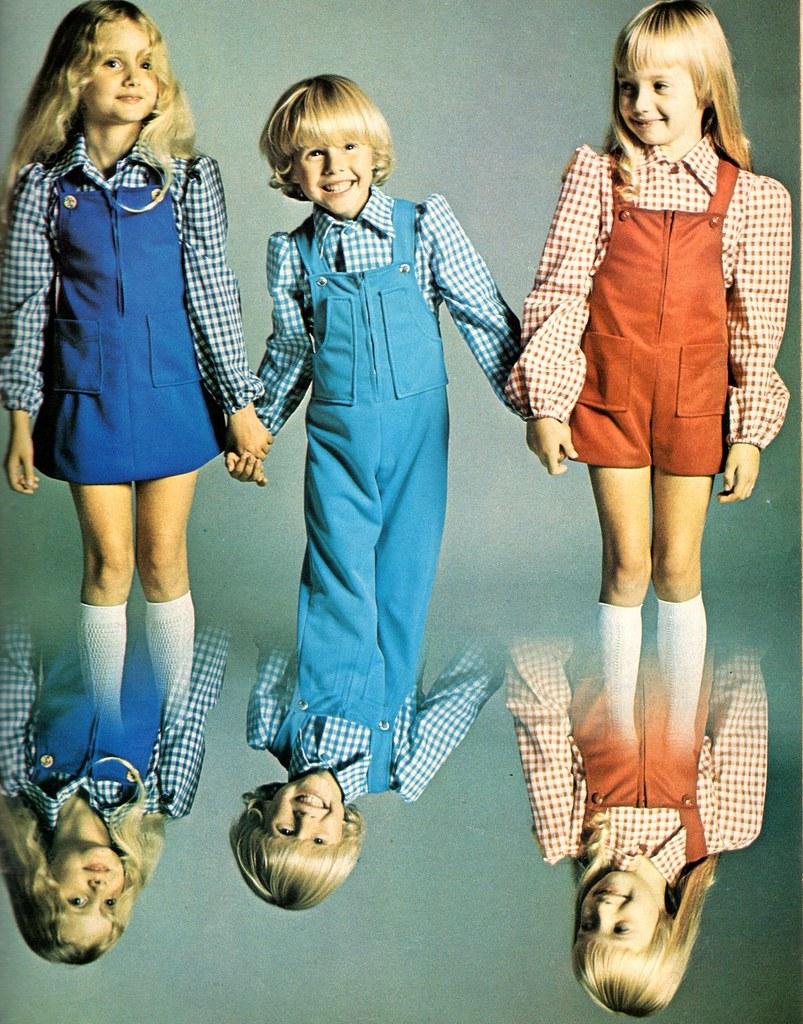 Fashion of 1970s -  Delmotte_monique The 1970s 1974 Style Pattern Book Kids Fashion By Delmotte_monique