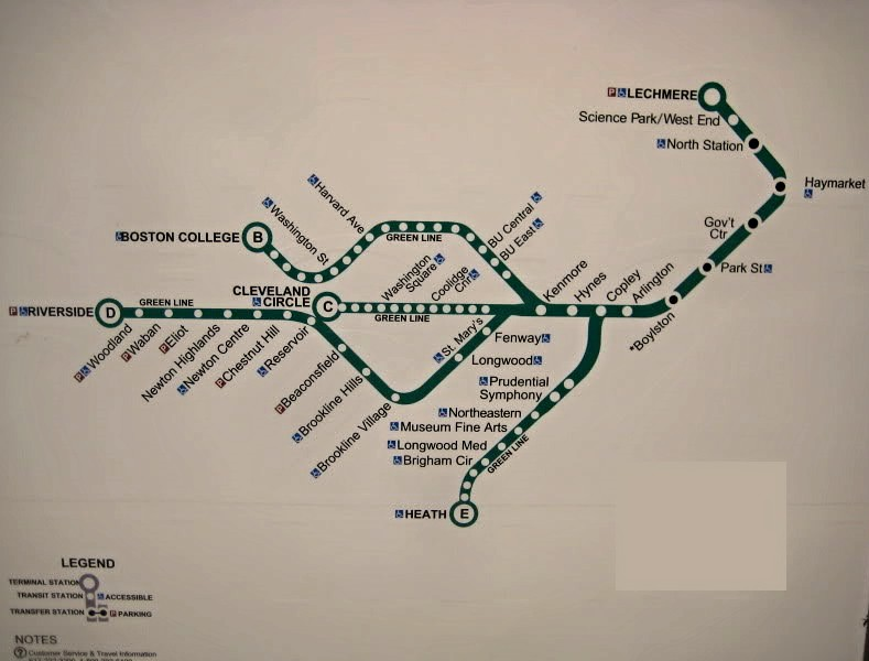 Green Line Map Green Line Map That Was Found At Kenmore St Flickr