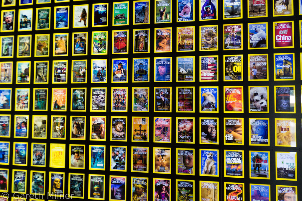 Magazine Covers, National Geographic Museum. Photo: Gareth Milner, CC.