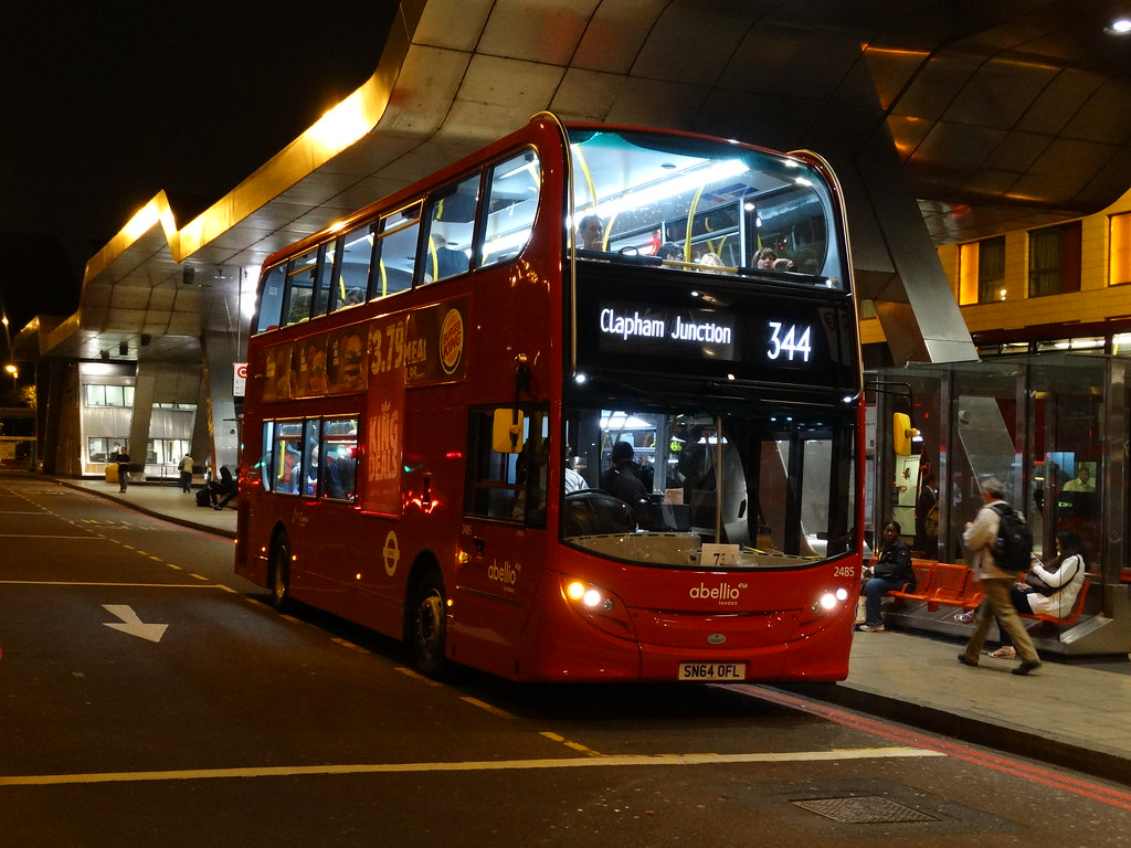... Abellio London Alexander Dennis Enviro400H (2485 - SN64 OFL) 344 | by  London Bus