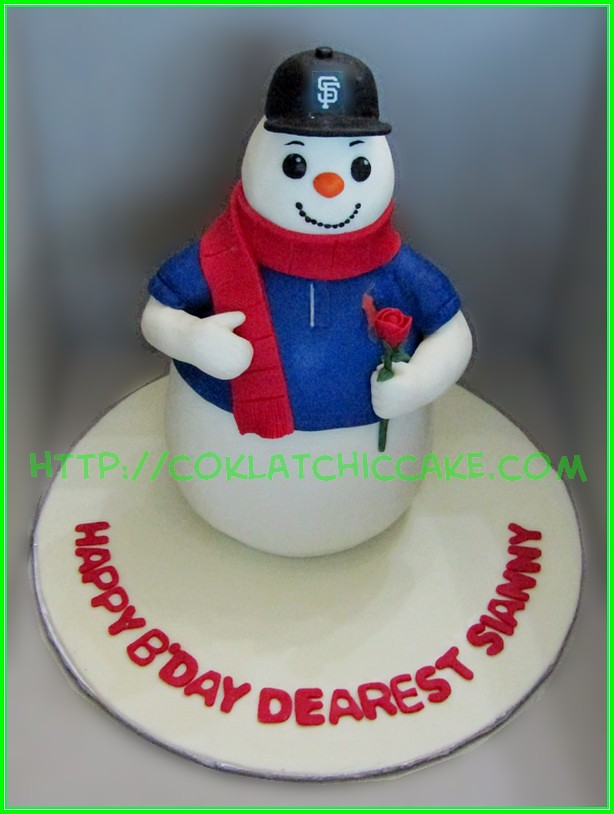 Cake snowman