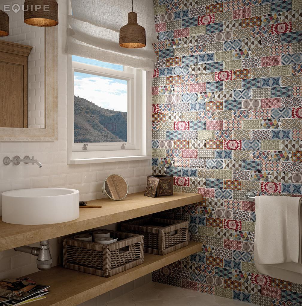 metro white decor patchwork 75x15 by equipe ceramicas - Metro Decor