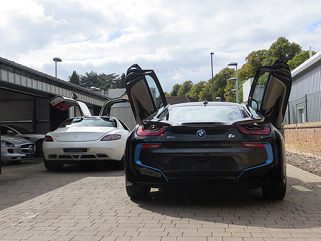 Bmw I8 Vs Sls Amg Doors Romans International Romanscars Flickr