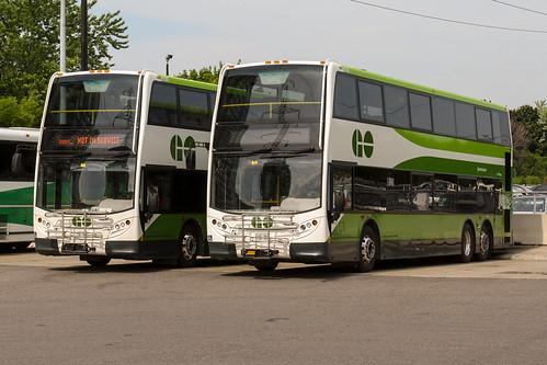 Go Transit Alexander Dennis Enviro500 #8155 and #8143