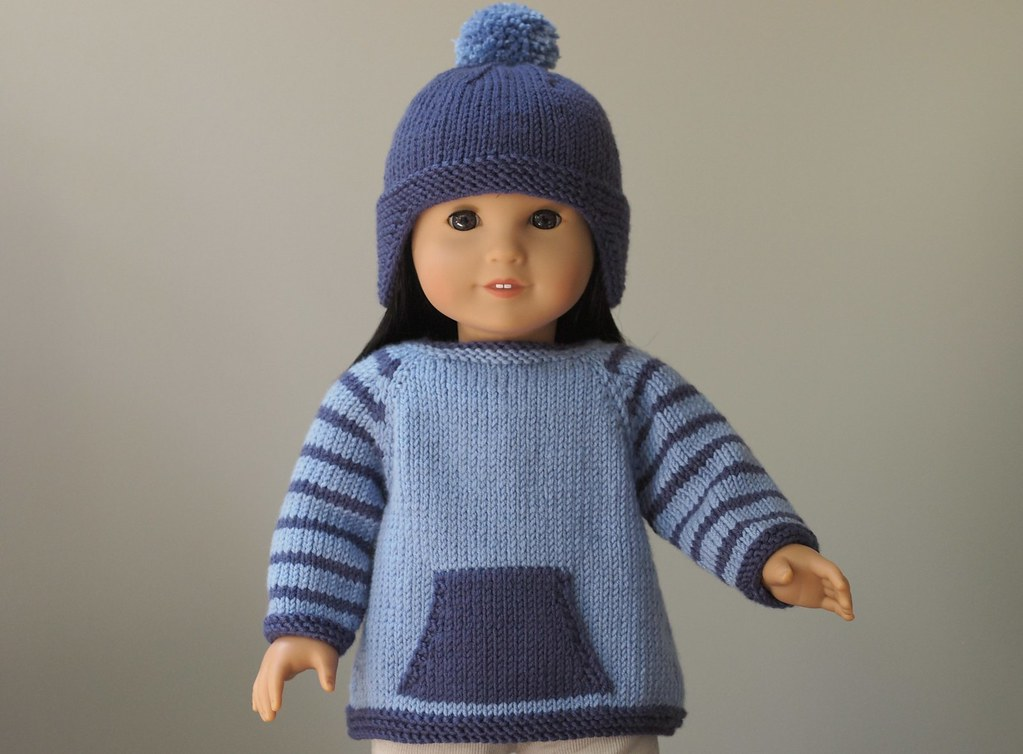 Rambler Sweater And Hat Knitting Pattern For American Gir Flickr