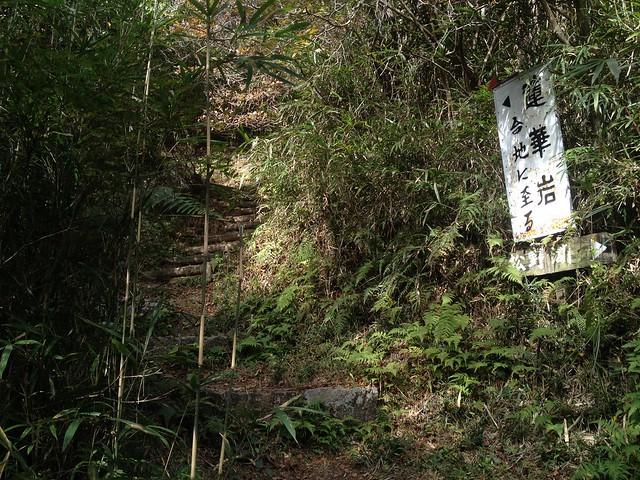 鬼岩公園 蓮華岩・烏帽子岩めぐりコース 登山道