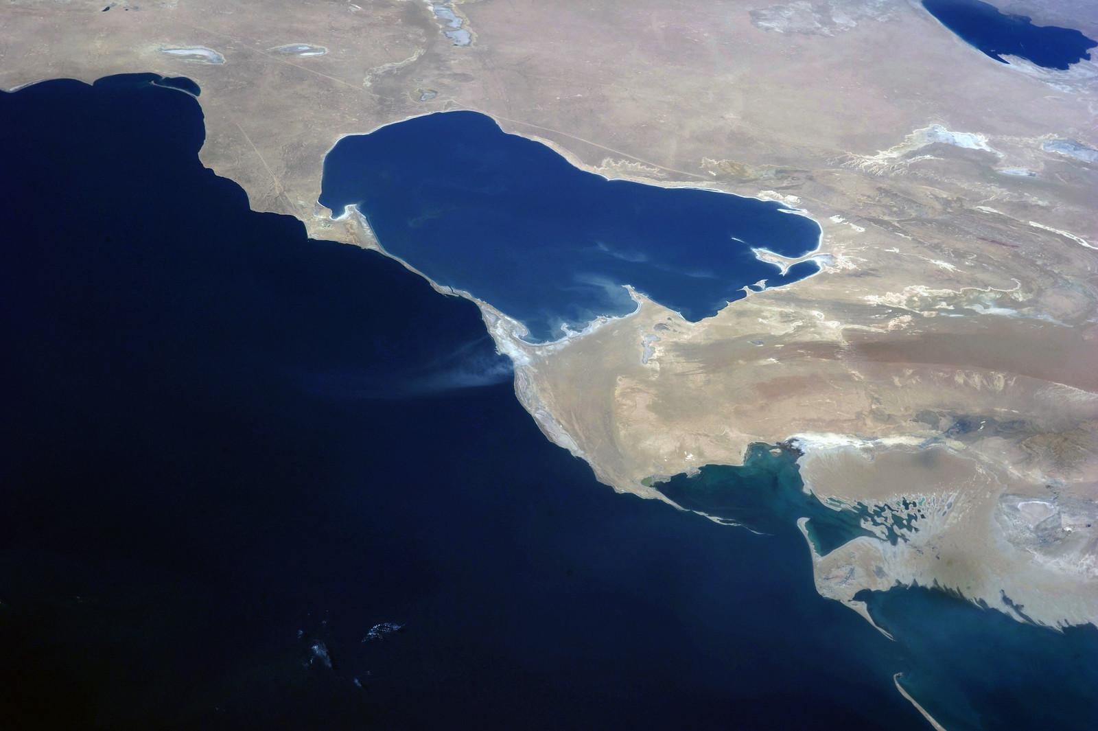 Caspian Sea and Garabogazköl