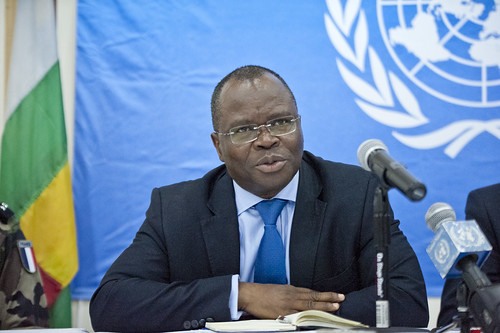 New DSRSG addresses the press | by Mission des Nations Unies en RCA