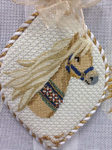 cream colored ponies needlepoint ornament series from rebe flickr. Black Bedroom Furniture Sets. Home Design Ideas
