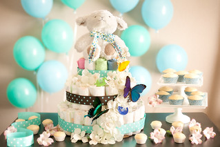 Baby Shower Diaper Cake | by PersonalCreations.com