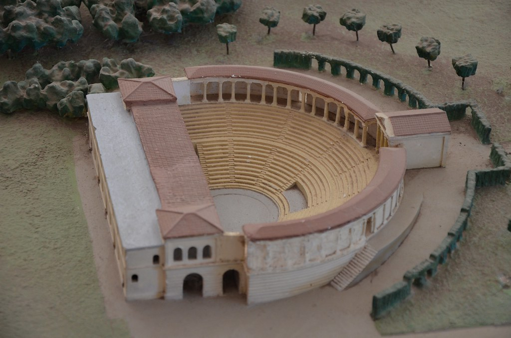 Model Of Hadrians Villa Showing The Greek Theatre