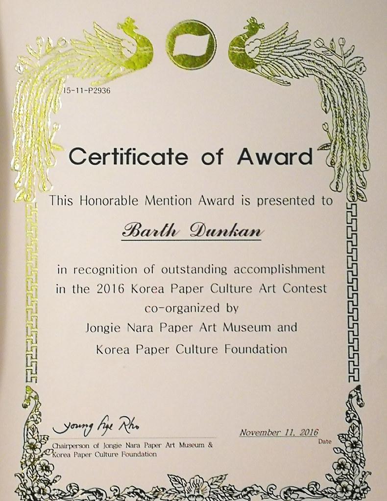 Certificate Of Award Je Remercie Matre Himanshu Agrawal D Flickr