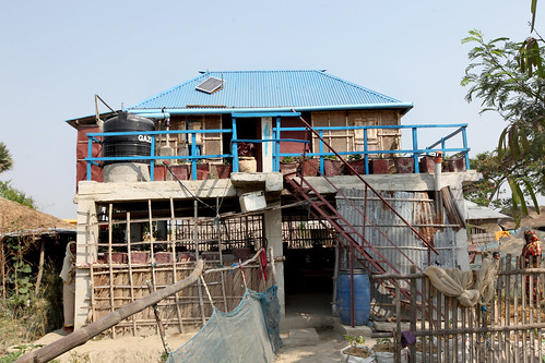 A climate smart house in Satkhira, Bangladesh. Photo by M. Yousuf Tushar. April 21, 2014