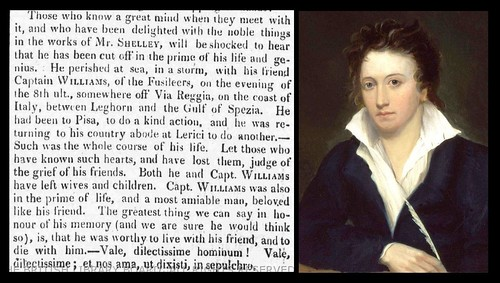 8th July 1822 - Death of Percy Shelley | by Bradford Timeline