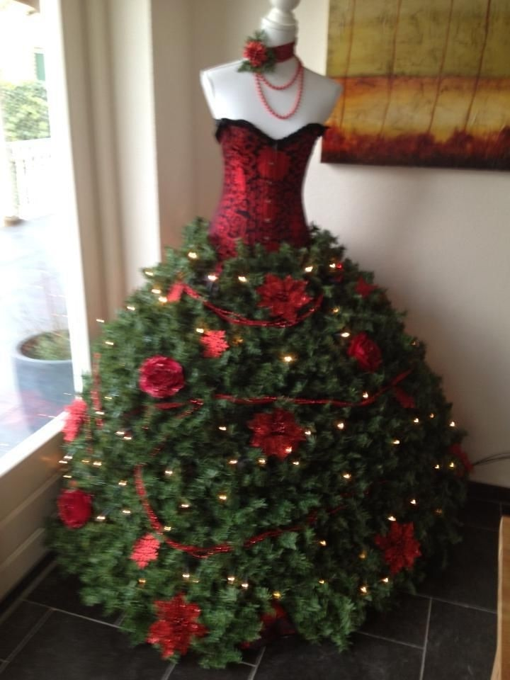 mannequin christmas tree christmas tree dress christmas trees by eva rinaldi celebrity and live music - Christmas Tree Dress