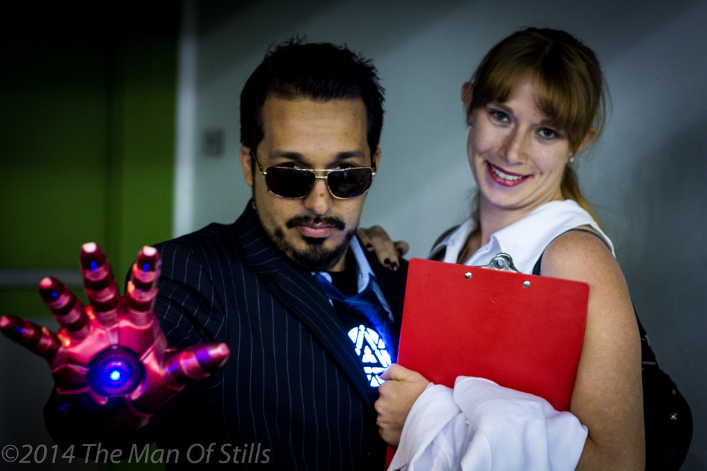 tony stark and pepper potts by the man of stills