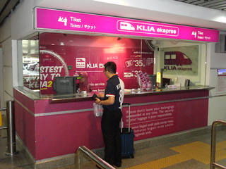 KLIA Ekspres Train Ticket Counter, KL Sentral, Kuala Lumpur | by travelourplanet.com