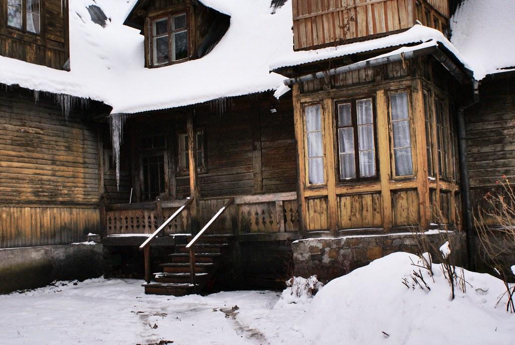 Maison en bois à Zakopane.