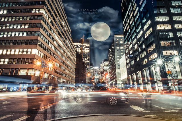 Supermoon in New York City