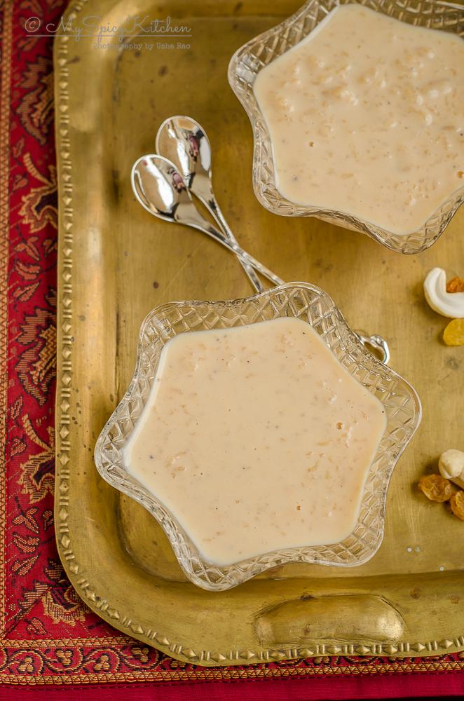 bowls of Caramel Rice Payasam