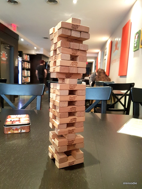 Jenga at A-Game Café