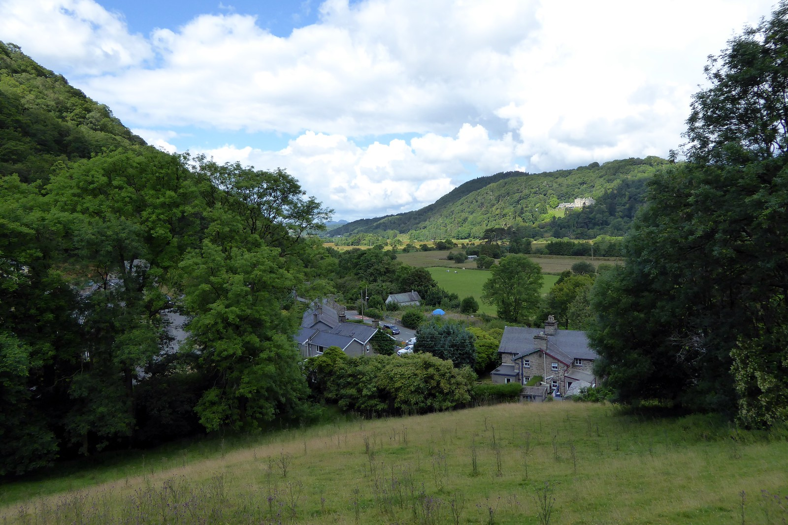 Looking down on Maentwrog village