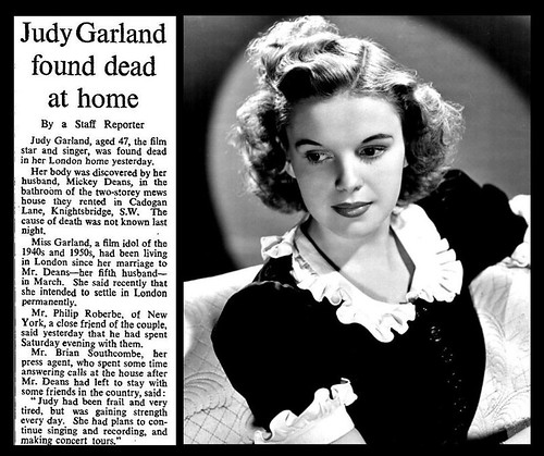 22nd June 1969 - Death of Judy Garland | by Bradford Timeline