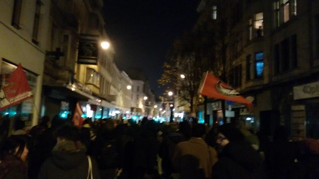 Bruxelles. Manifestation réussie contre le local nazi
