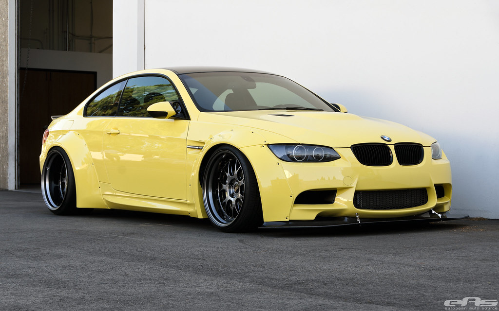 Bmw E92 M3 Coupe With Oneighty Headlights This Awesome Bui Flickr