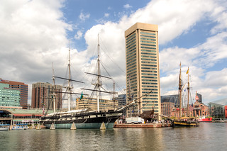 USS Constellation and Pride of Baltimore II | by Avelino Maestas