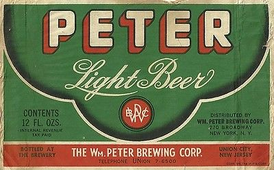 1930s-WILLIAM-PETER-BREWING-CO-UNION-CITY-NEW | by jbrookston