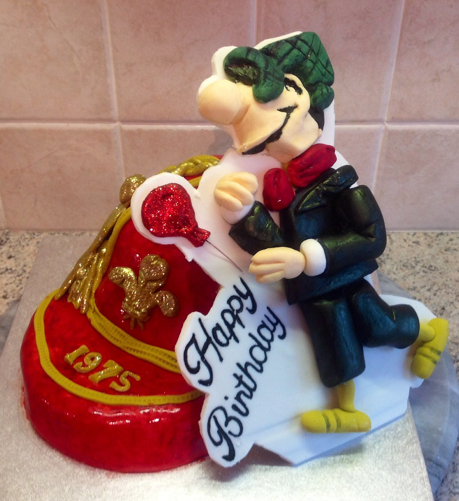 Andys Caps Birthday Cake Welsh Denise Salway Flickr