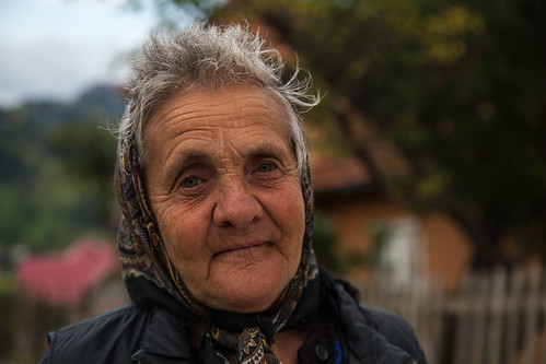 Old romanian lady