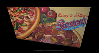 Illustration for Boston Pizza | by Hot Graphics Studios