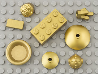 299 Warm Gold, Drum Lacquered/Gold Metalized/Gold Laquered / Metallic Gold | by Brick Colorstream