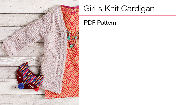 Girl's Knit Cardigan