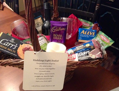 Wedding Night Gift Basket Ideas : Wedding Night Gift Basket Bridal shower gift for wedding n ...
