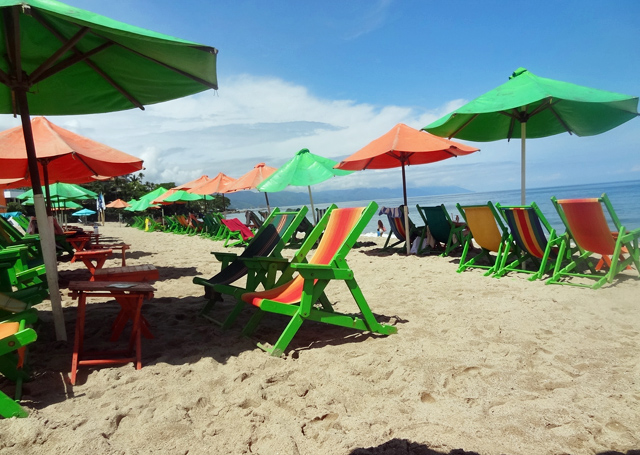 ... Quirkytravelguy Green Chairs Beach | By Quirkytravelguy