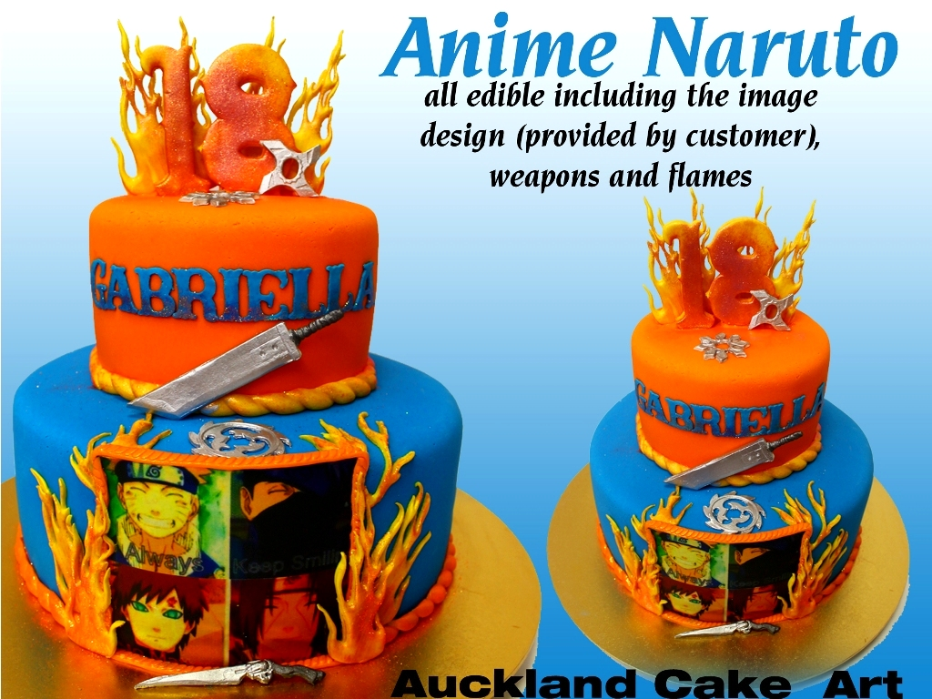 Anime Naruto Anime Naruto Cake With Edible Flames And Anim Flickr