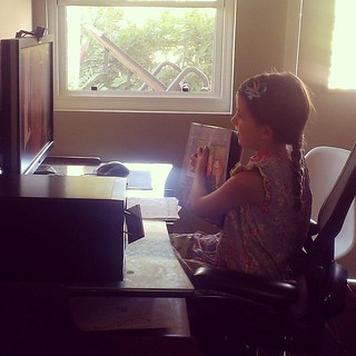 Skyping with our Spanish tutor in Guatemala.  #homeschool  #skype | by Urthmama