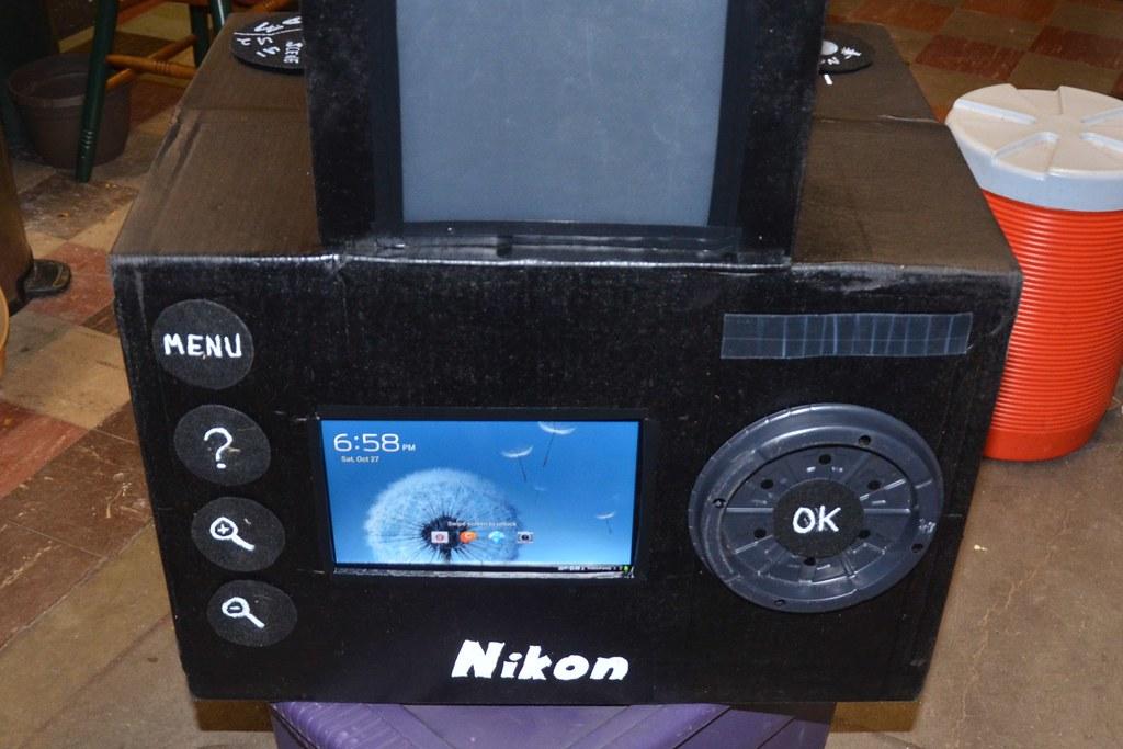 Image result for digital camera costume cardboard